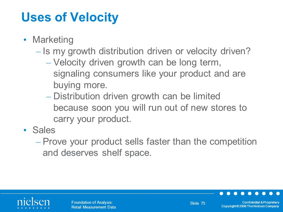Uses of Velocity Marketing