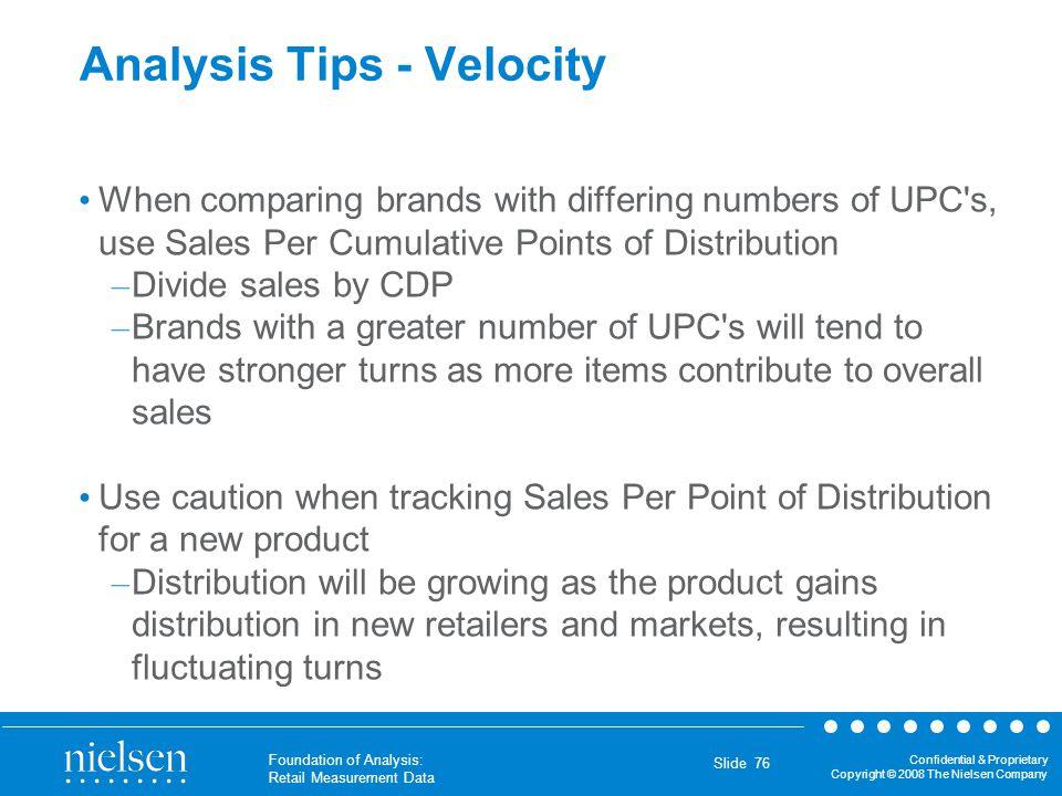 Analysis Tips - Velocity