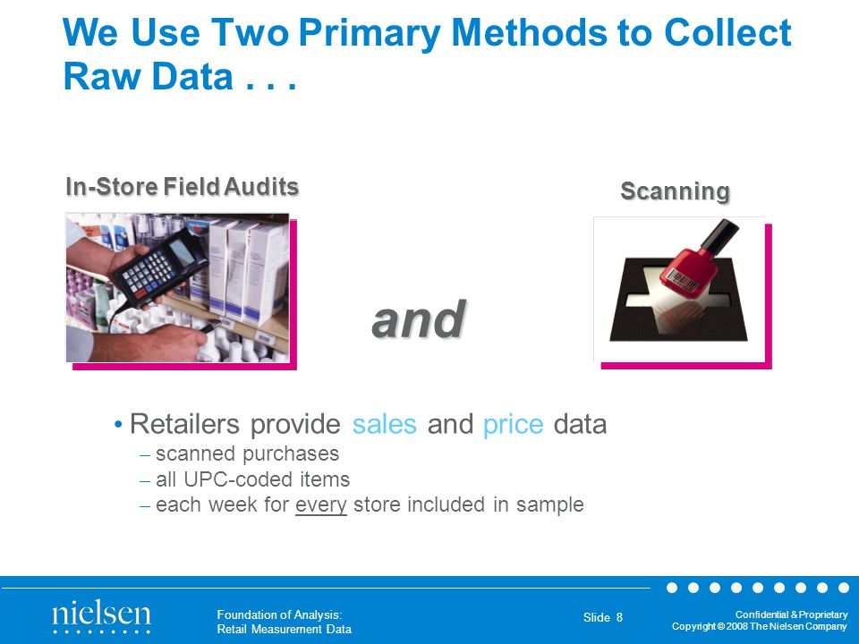 We Use Two Primary Methods to Collect Raw Data . . .