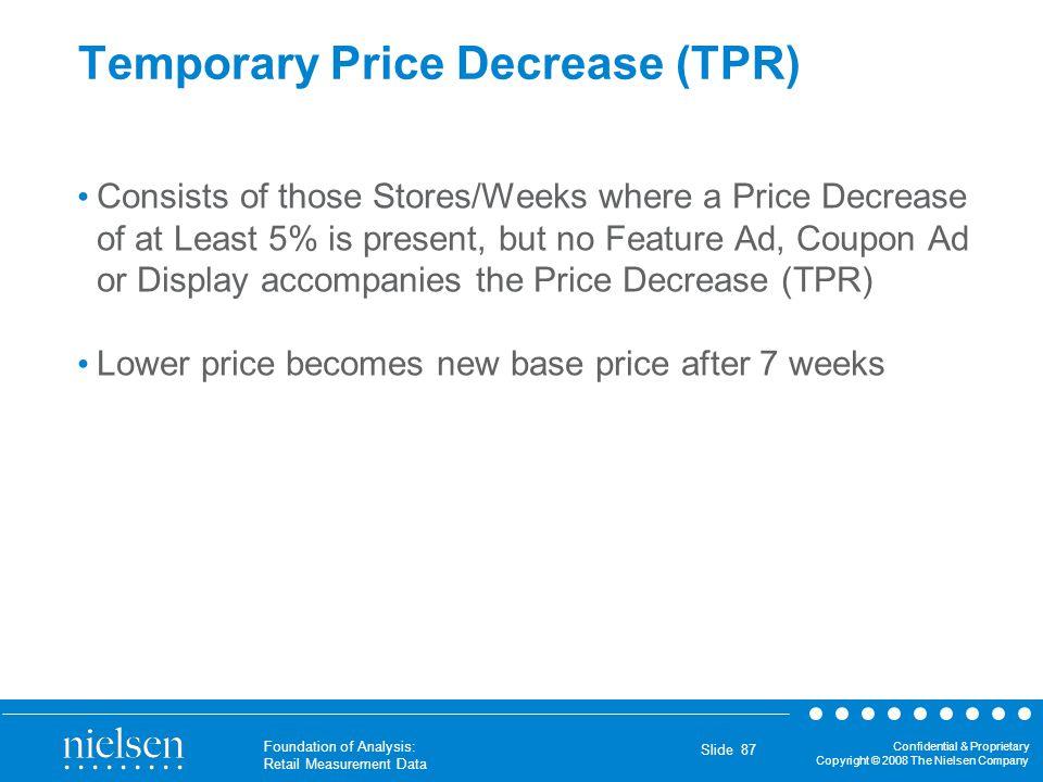 Temporary Price Decrease (TPR)