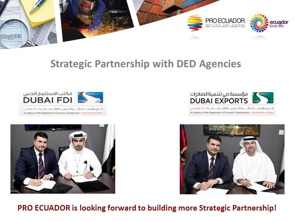 Strategic Partnership with DED Agencies