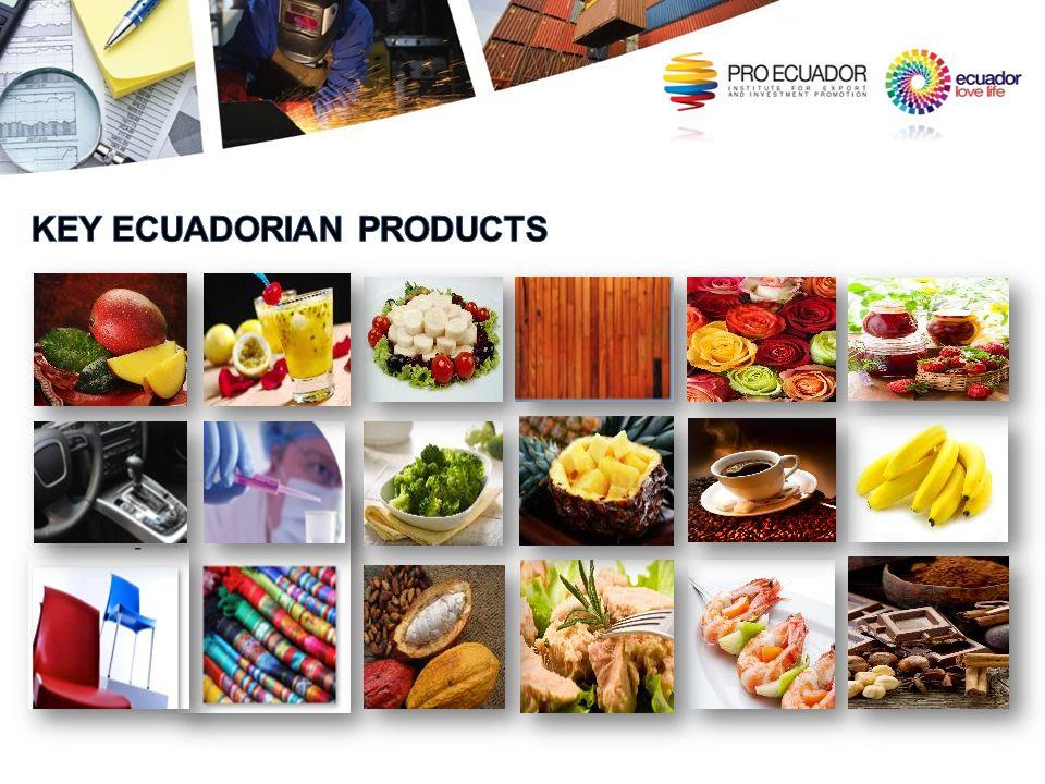 KEY ECUADORIAN PRODUCTS