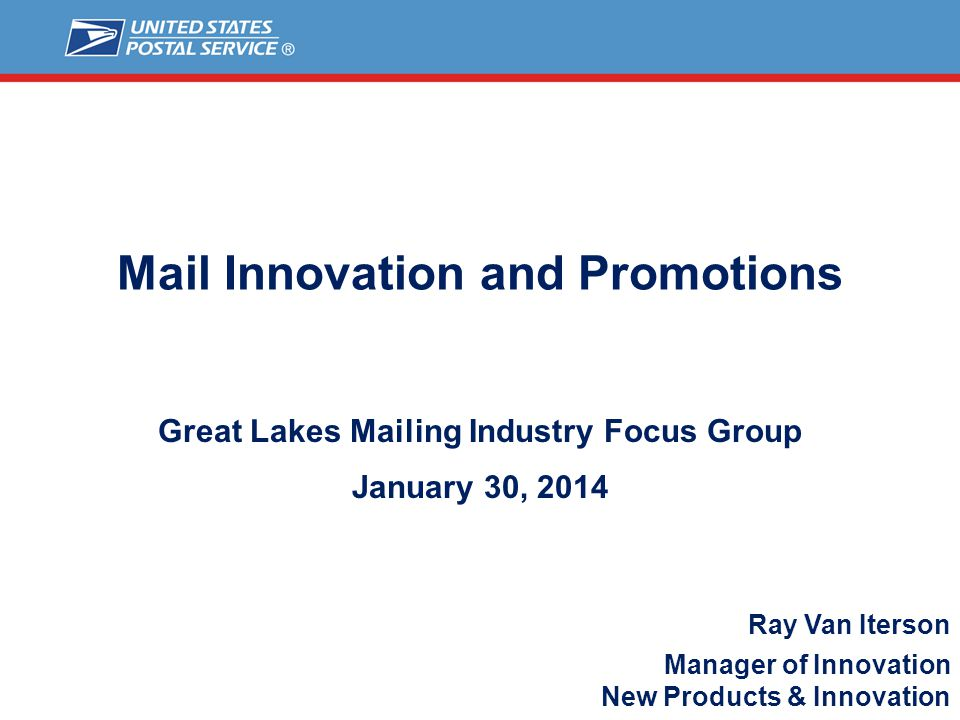 Mail Innovation and Promotions