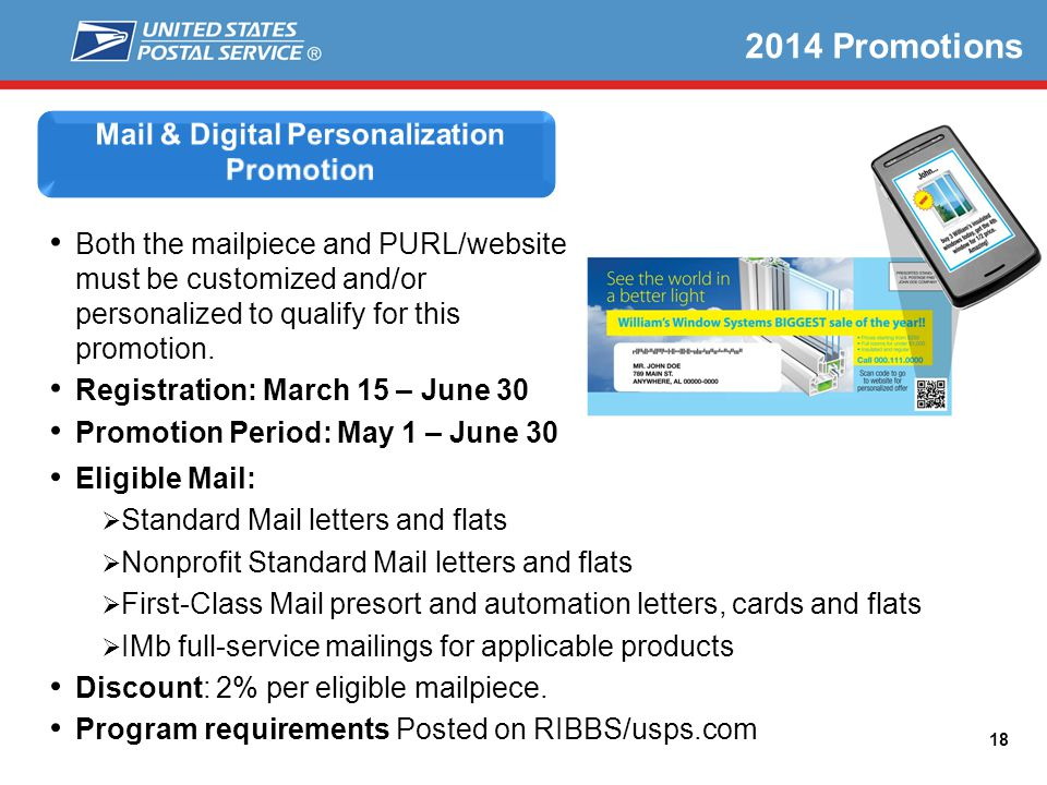 Mail & Digital Personalization Promotion