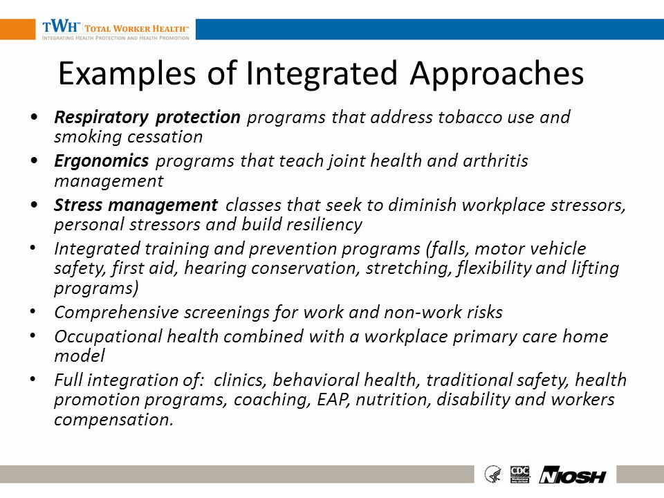 Examples of Integrated Approaches