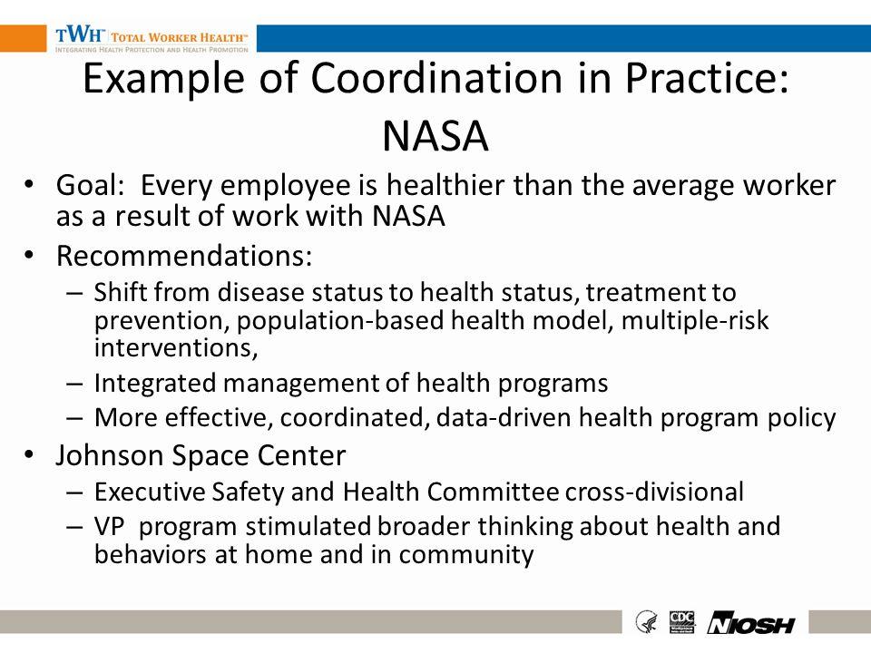 Example of Coordination in Practice: NASA