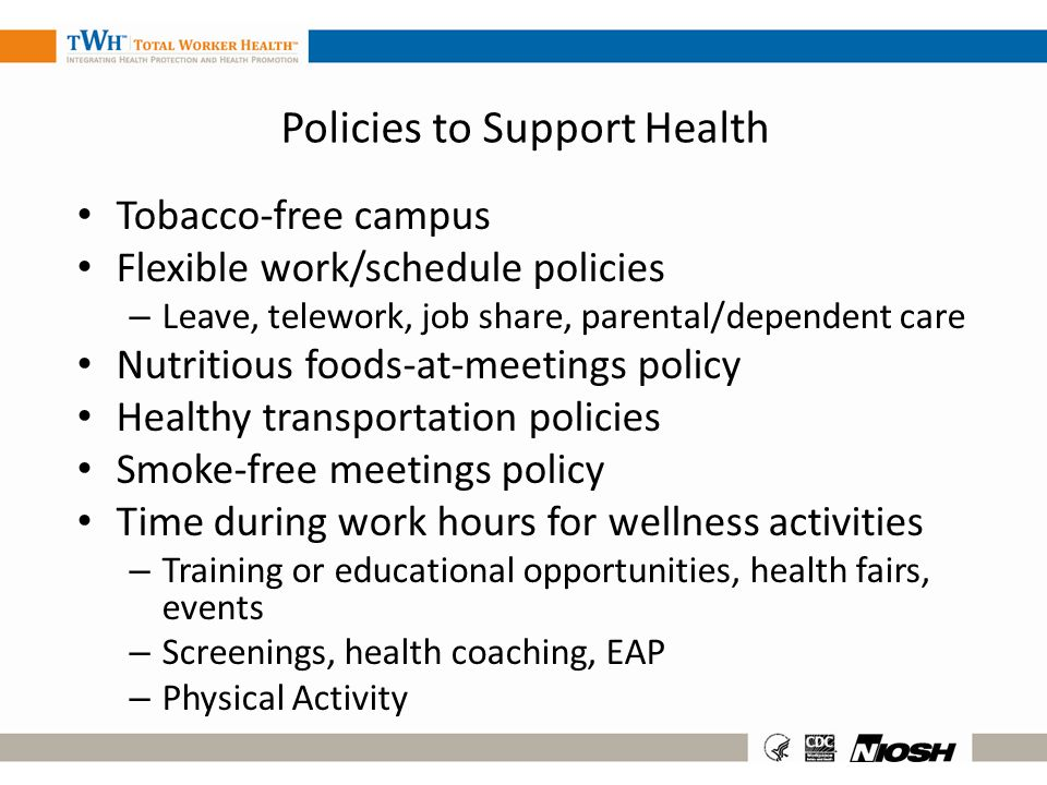 Policies to Support Health