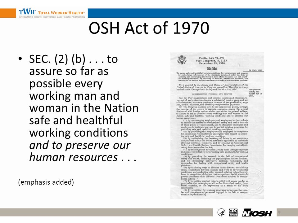 OSH Act of 1970