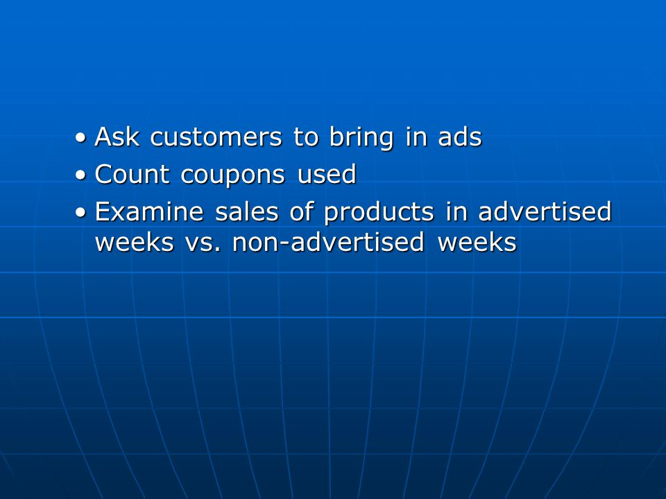 Ask customers to bring in ads