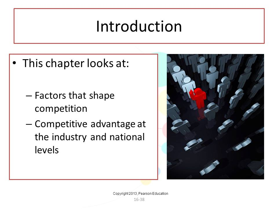 Introduction This chapter looks at: Factors that shape competition