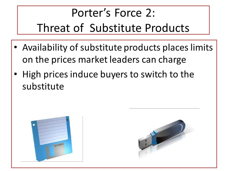 Porter's Force 2: Threat of Substitute Products