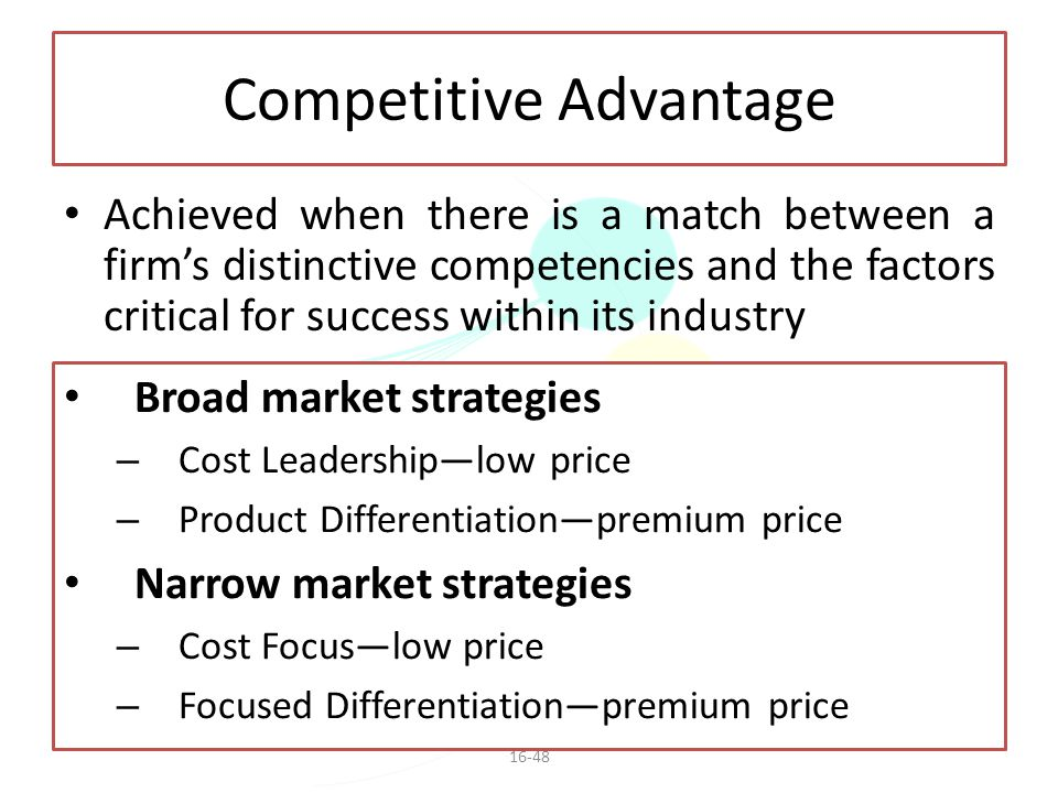 Competitive Advantage