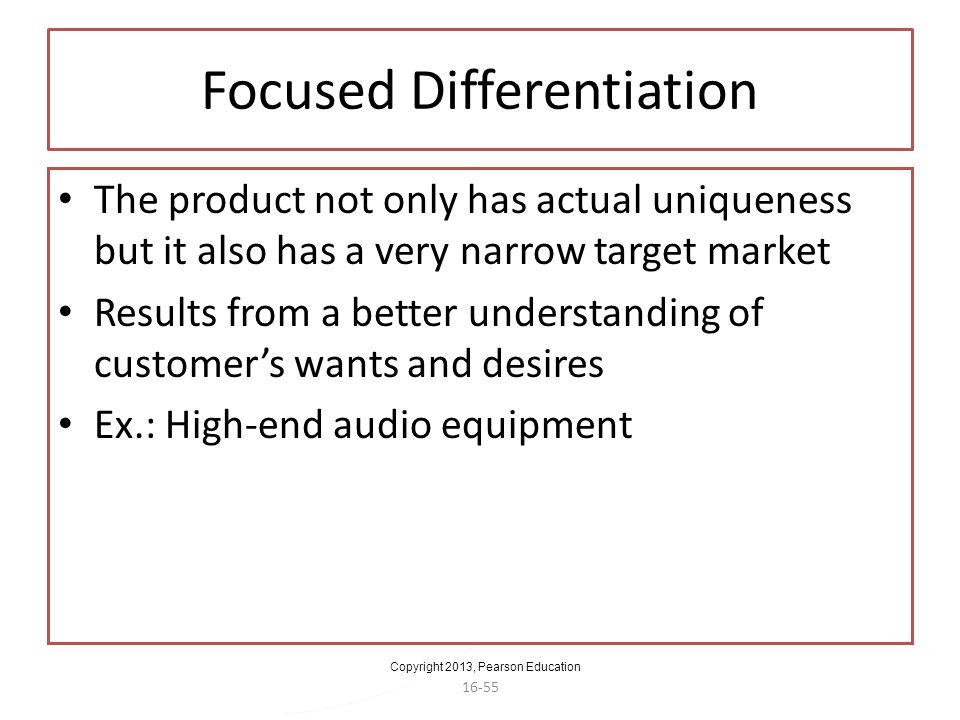 Focused Differentiation