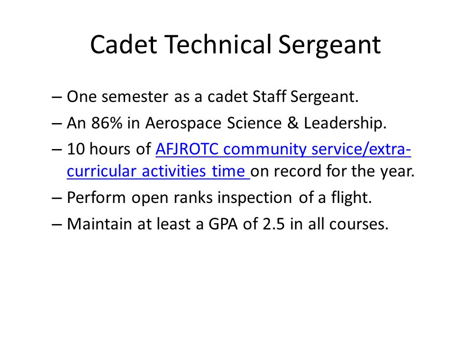 Cadet Technical Sergeant