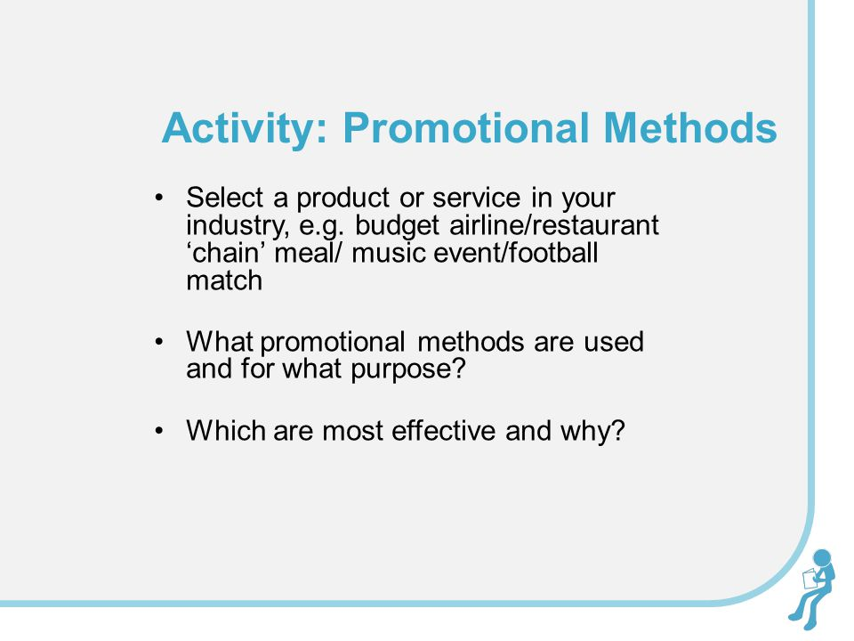 Activity: Promotional Methods