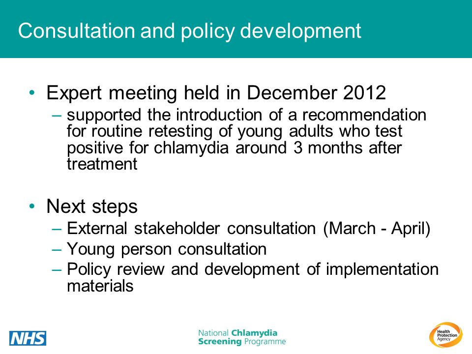 Consultation and policy development