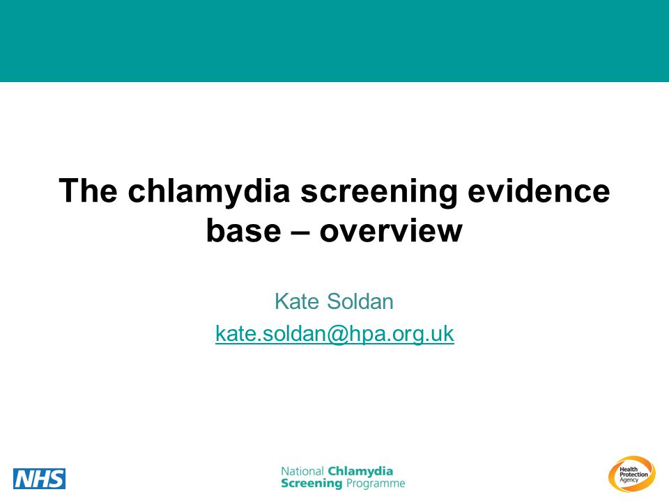 The chlamydia screening evidence base – overview