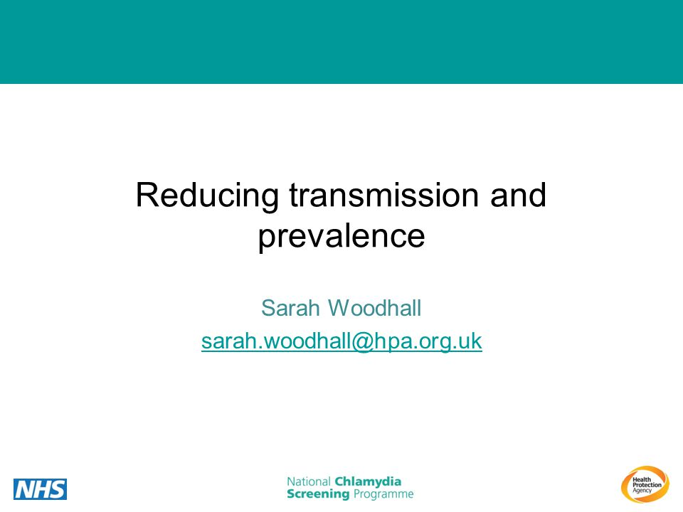 Reducing transmission and prevalence