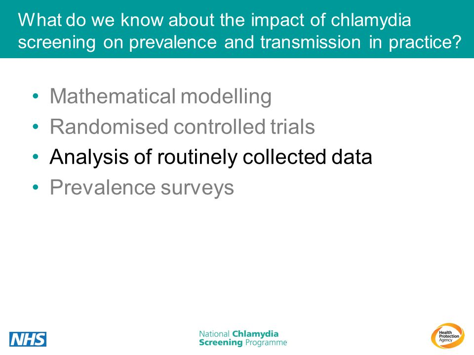 Mathematical modelling Randomised controlled trials