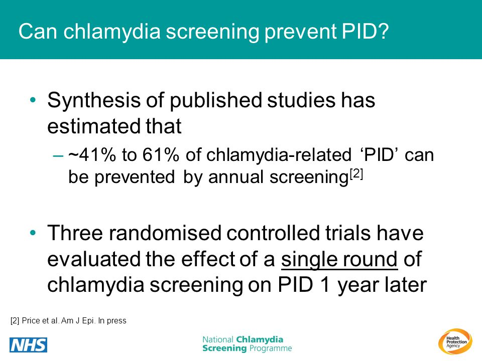 Can chlamydia screening prevent PID