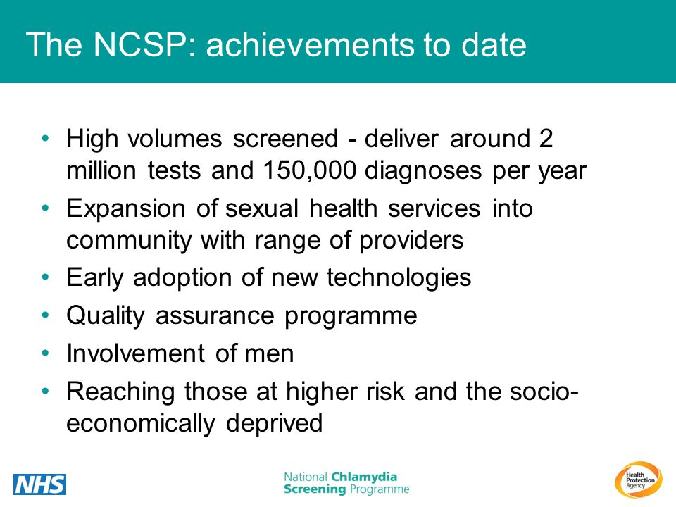 The NCSP: achievements to date