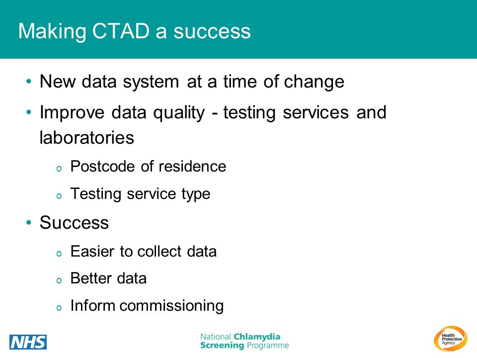 Making CTAD a success New data system at a time of change