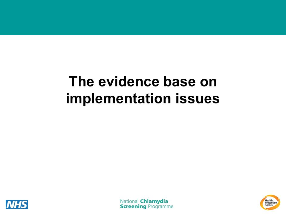 The evidence base on implementation issues