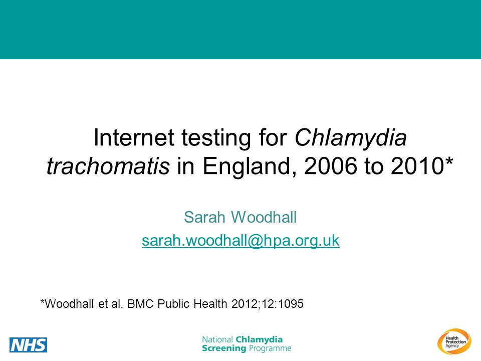 Internet testing for Chlamydia trachomatis in England, 2006 to 2010*