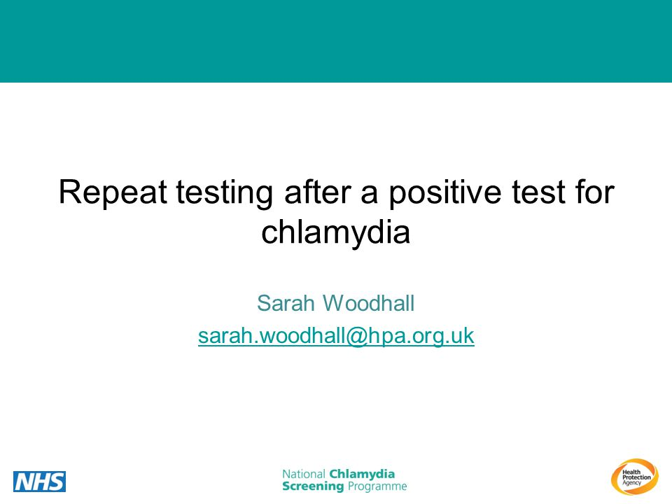 Repeat testing after a positive test for chlamydia