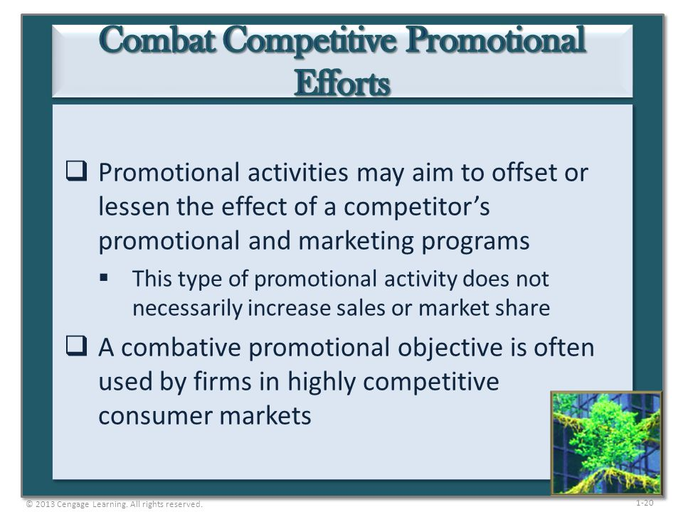 Combat Competitive Promotional Efforts