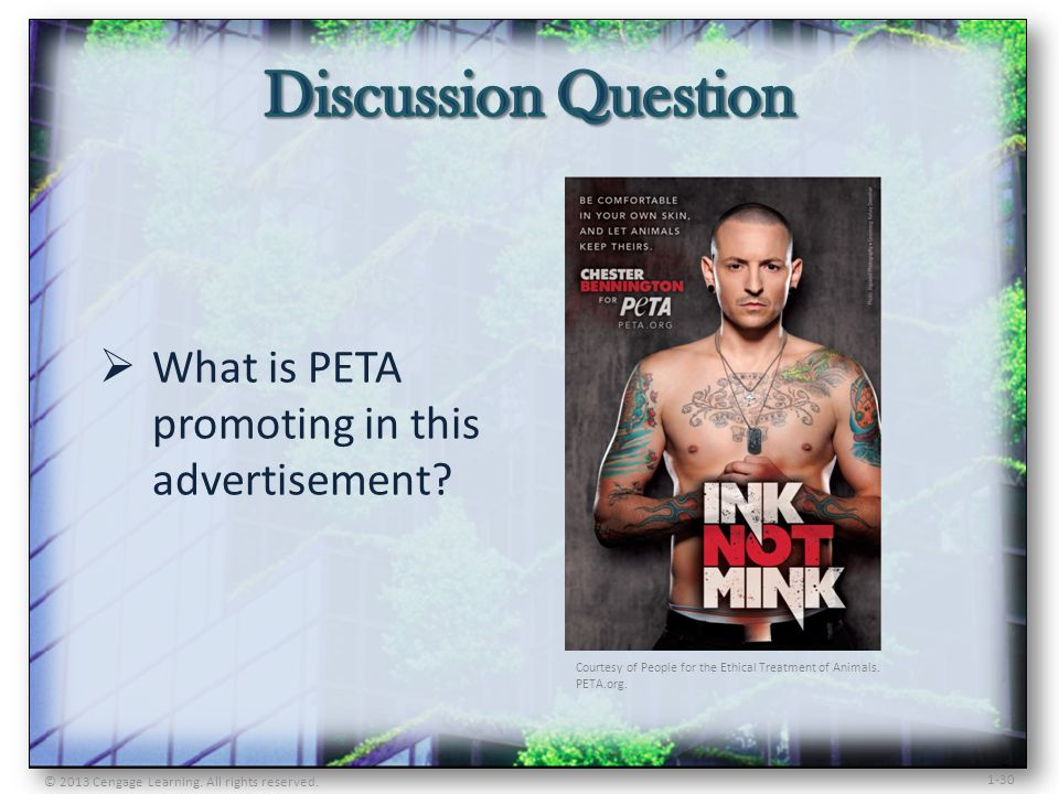 What is PETA promoting in this advertisement