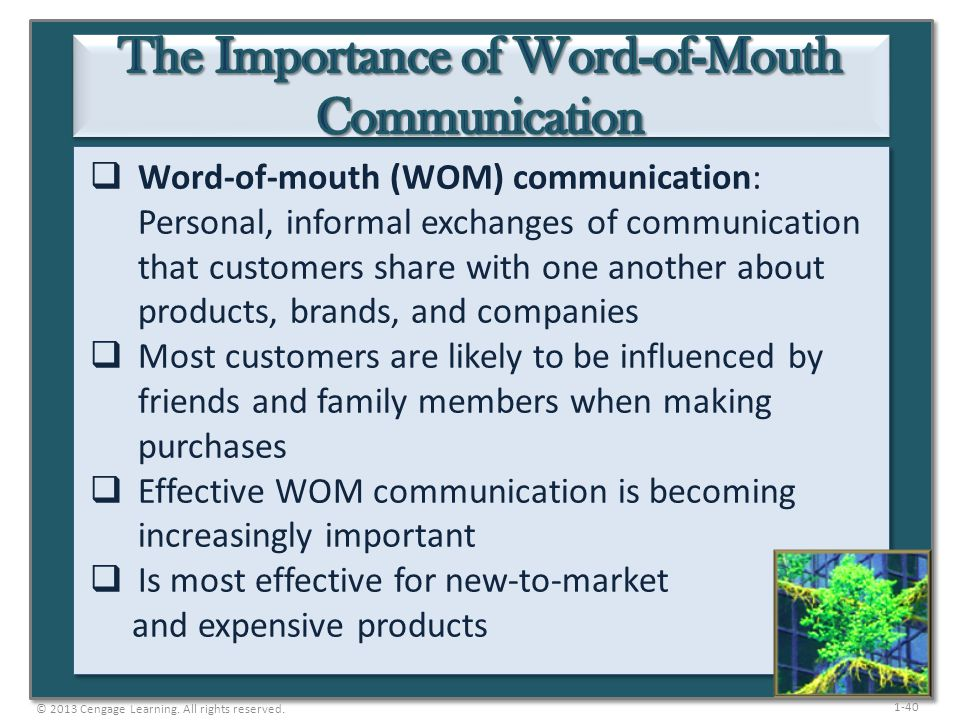 The Importance of Word-of-Mouth Communication