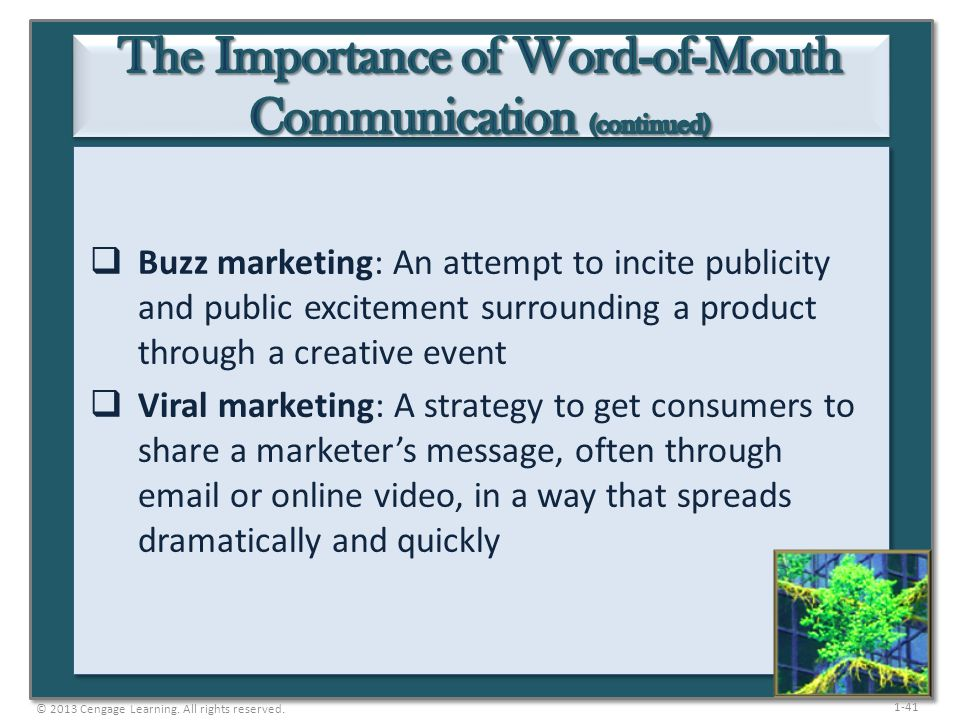 The Importance of Word-of-Mouth Communication (continued)