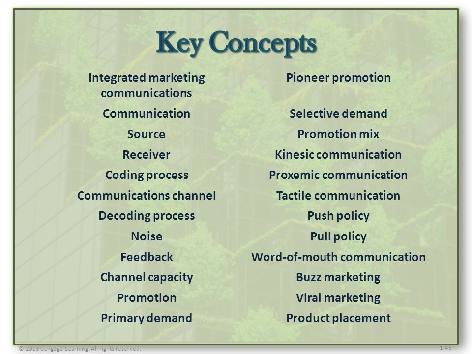 Key Concepts Integrated marketing communications Pioneer promotion