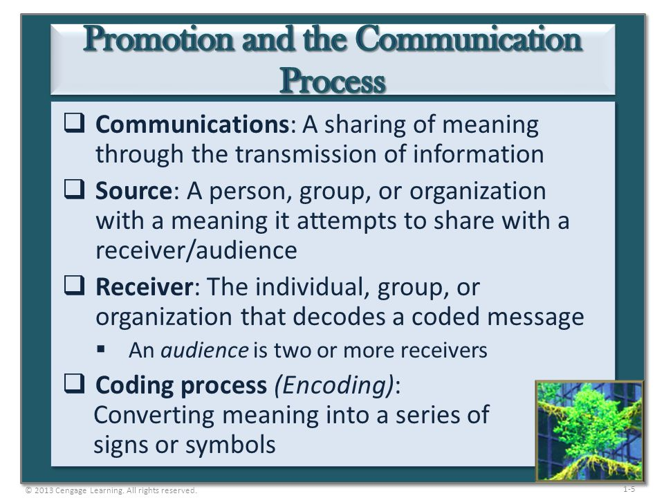 Promotion and the Communication Process