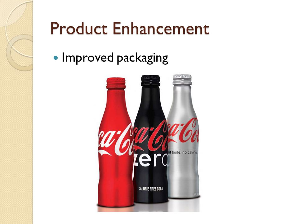 Product Enhancement Improved packaging