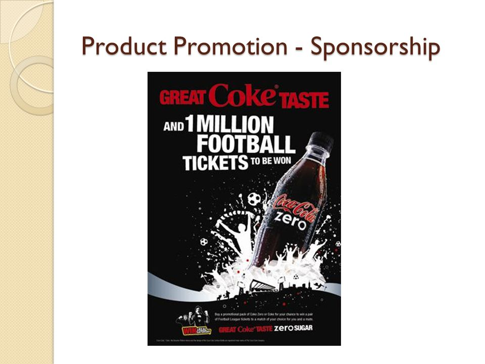 Product Promotion - Sponsorship