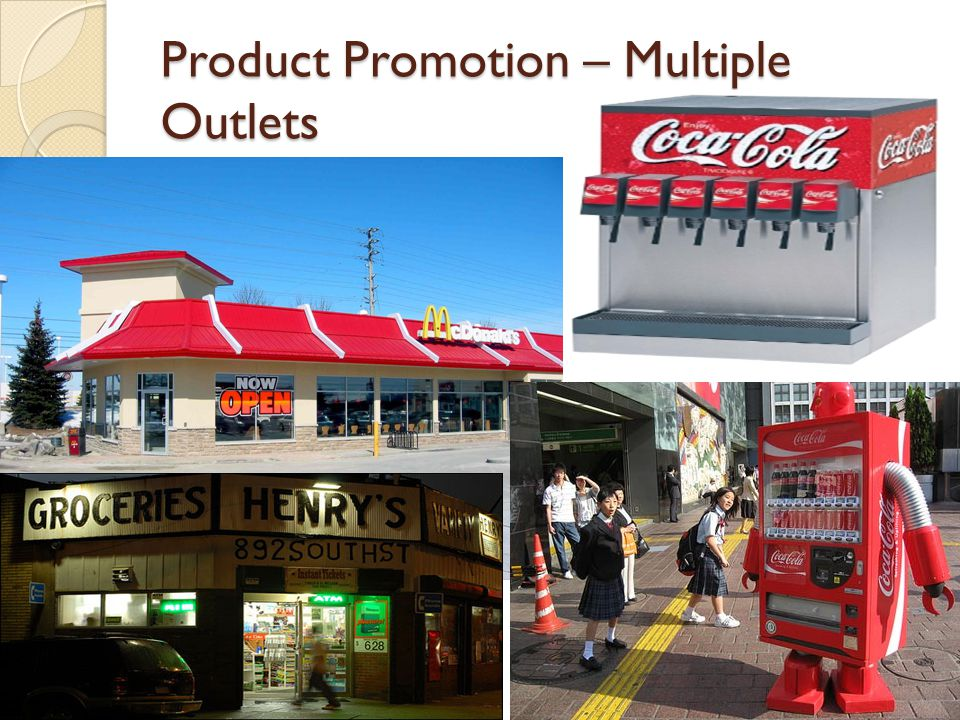Product Promotion – Multiple Outlets