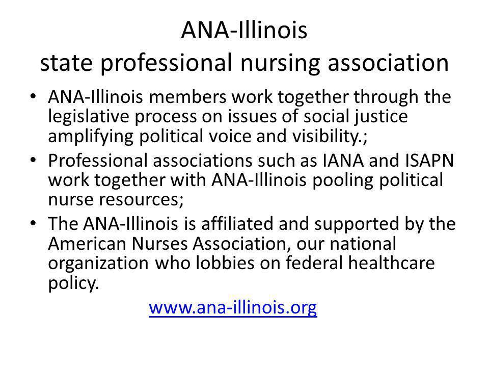 ANA-Illinois state professional nursing association