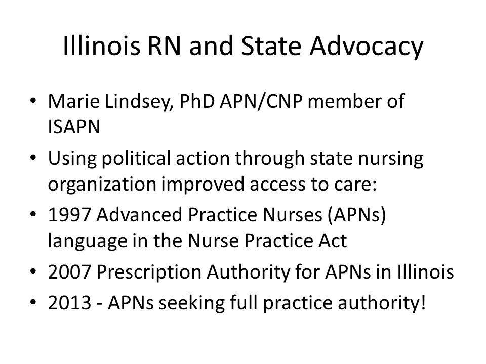 Illinois RN and State Advocacy