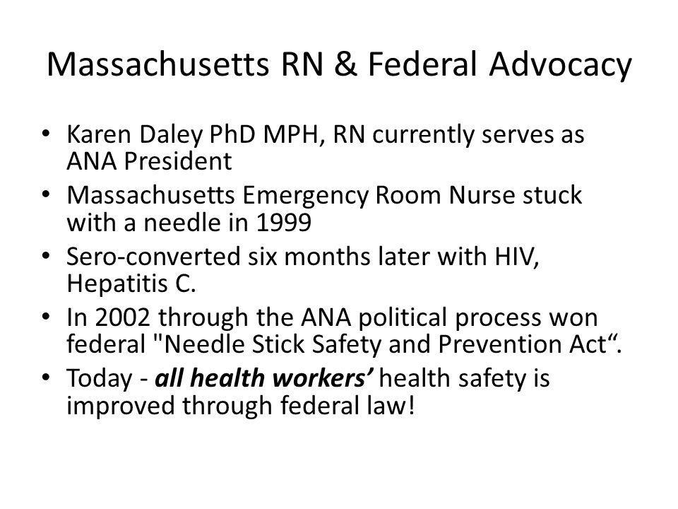Massachusetts RN & Federal Advocacy