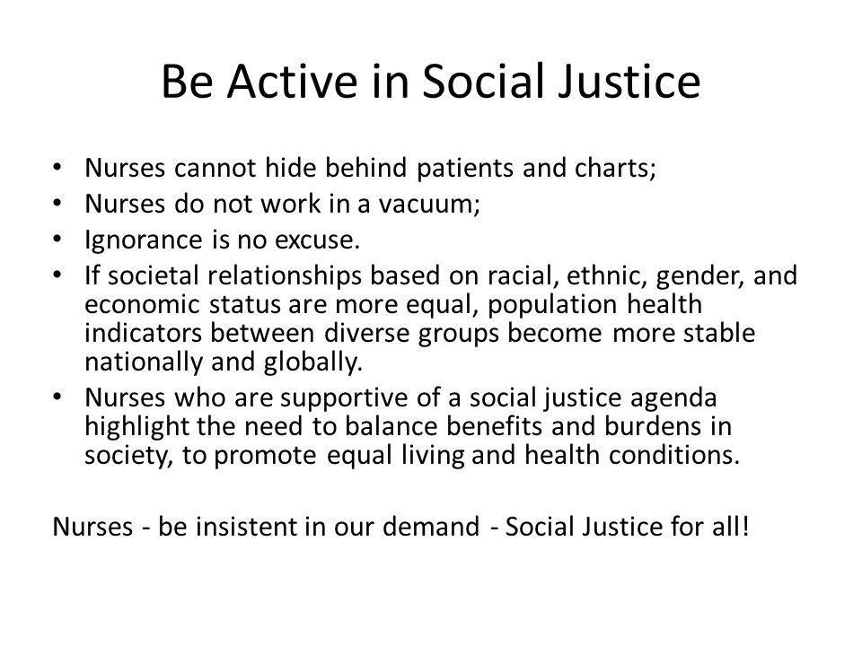 Be Active in Social Justice