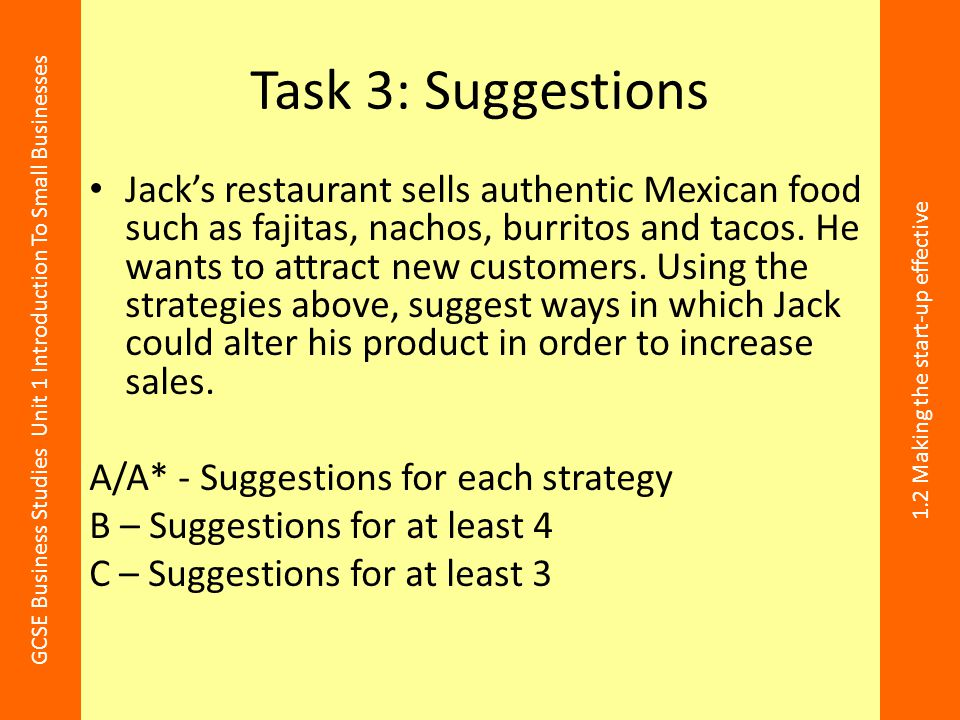 Task 3: Suggestions