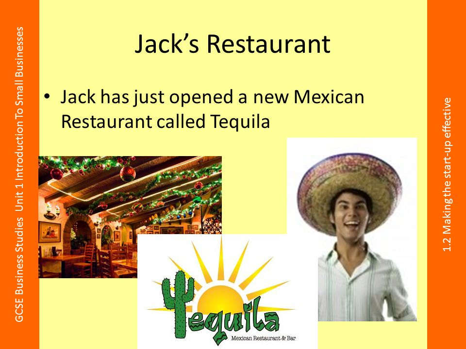 Jack's Restaurant Jack has just opened a new Mexican Restaurant called Tequila