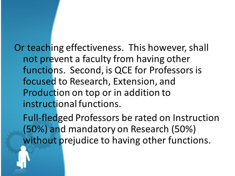 Or teaching effectiveness