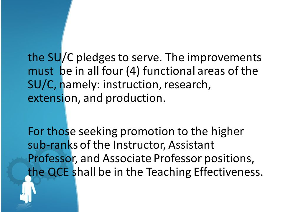 the SU/C pledges to serve