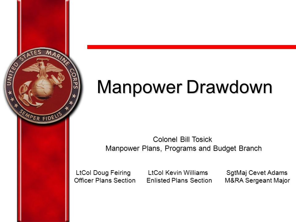 Manpower Plans, Programs and Budget Branch