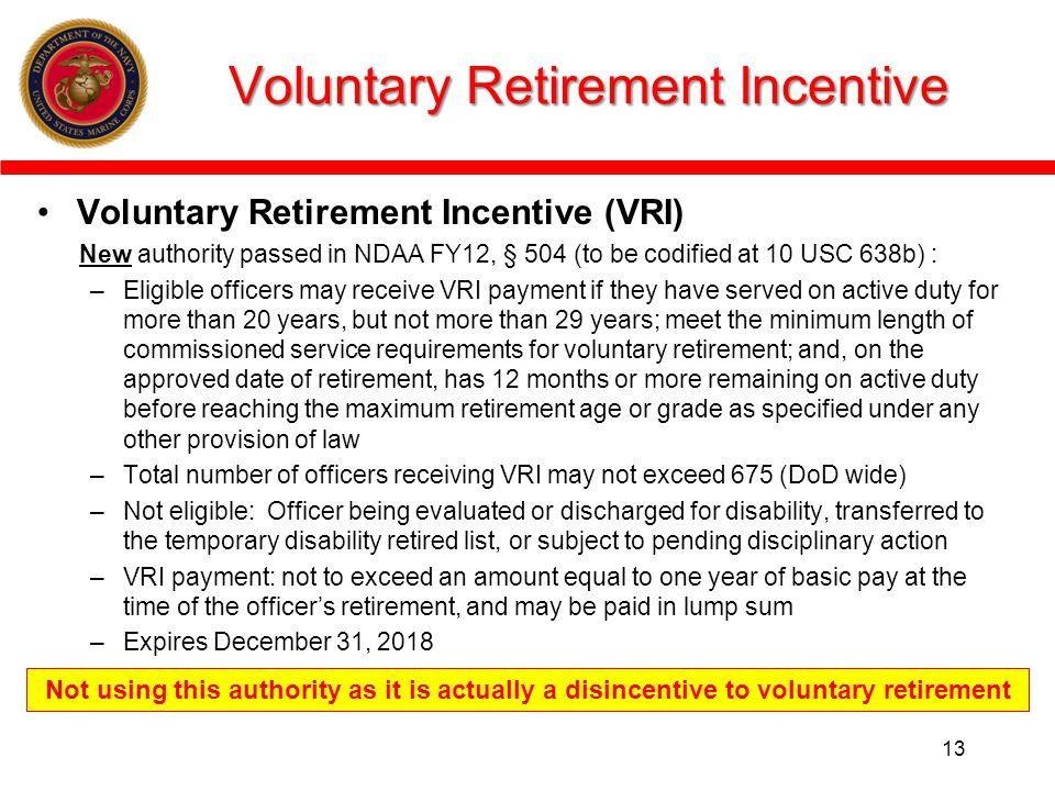 Voluntary Retirement Incentive