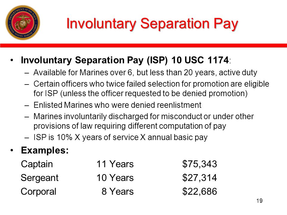 Involuntary Separation Pay