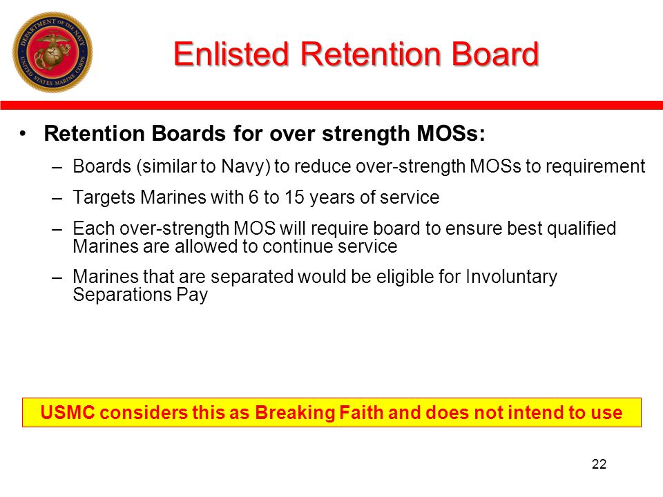 Enlisted Retention Board